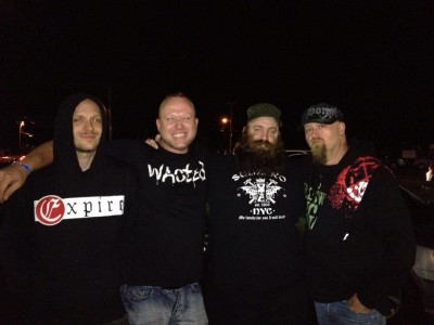 myself, jay avery of painmask, ray from full blown chaos and matt slater