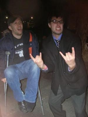 Me with my buddy Nate Kelley (1st Shabutie/Coheed drummer and also ex member of Divest and Pontius Pilate Sales Pitch with me)