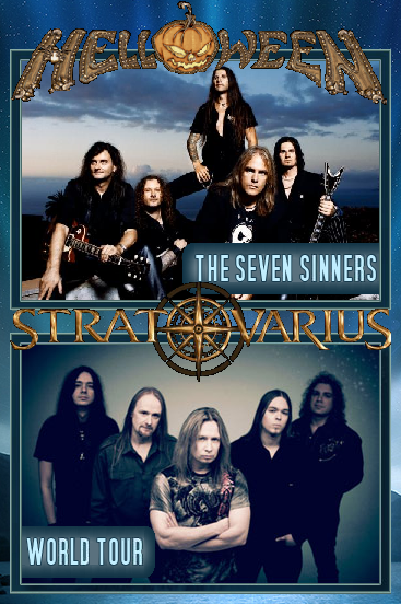 Helloween and Stratovarius 7 Sinners Tour