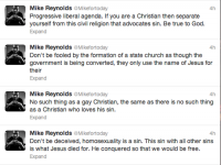 Mike Reynolds tweets