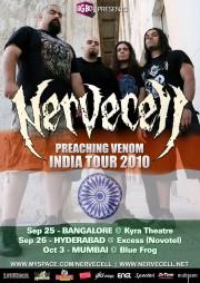 Nervecell Preaching Venom India Tour 2010