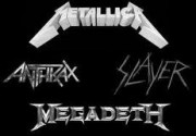 Big Four - Metallica, Slayer, Megadeth, Anthrax band logos