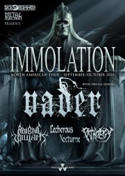 Immolation, Vader on tour