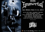 Immortal - All Shall Fall tour 2011