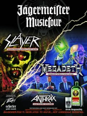 Jagermeister 2010 Fall Tour with Slayer, Megadeth, and Anthrax