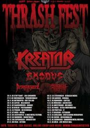 Thrash Fest 2010 Tour Flyer