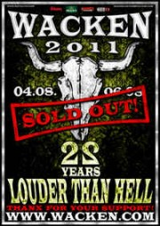 Wacken Open Air 2011 flyer sold out